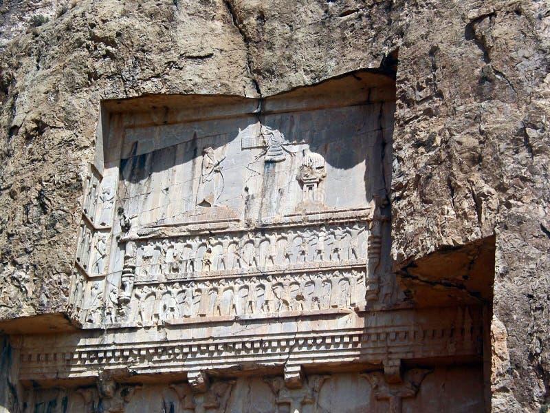 rostan kungliga tombs för e-naghspersepolis royaltyfri fotografi