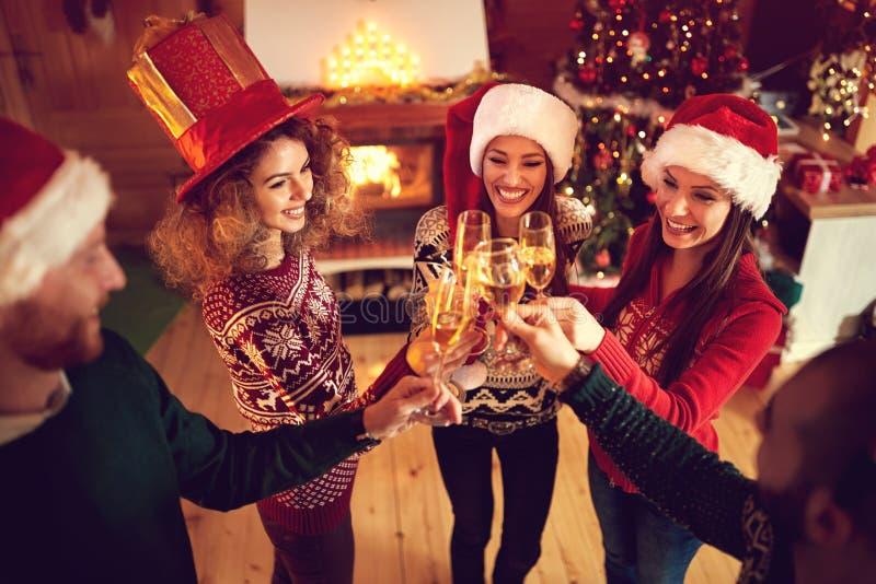 Rostat bröd för ferie för lycklig jul royaltyfria bilder