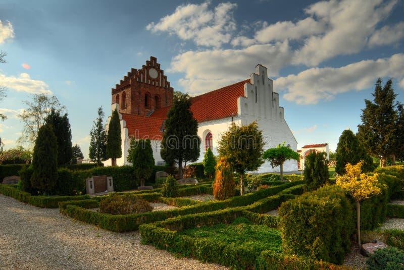Rosted Kirche in Dänemark lizenzfreies stockfoto
