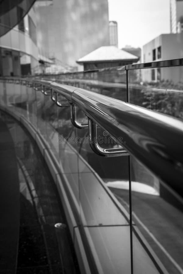 Rostfri handrail arkivbilder