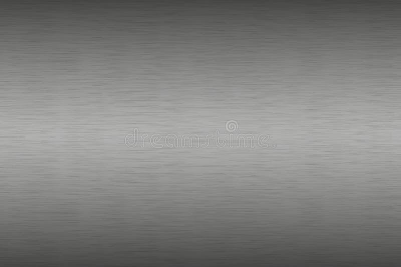 Rostfritt stål borstad metallbakgrund, aluminum textur royaltyfri illustrationer