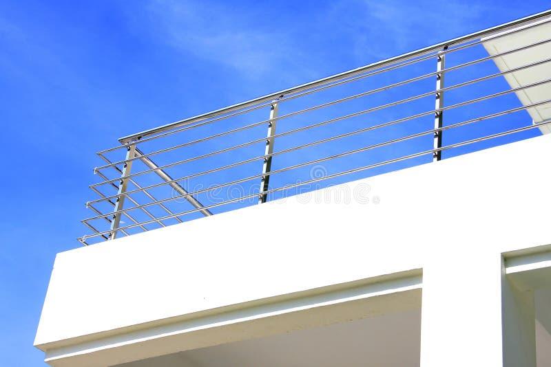 rostfritt stål för balkongguardstång royaltyfri bild