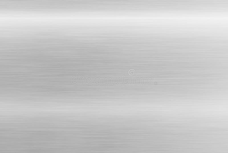 Rostfritt ståltextur Polerad aluminum bakgrund arkivfoto