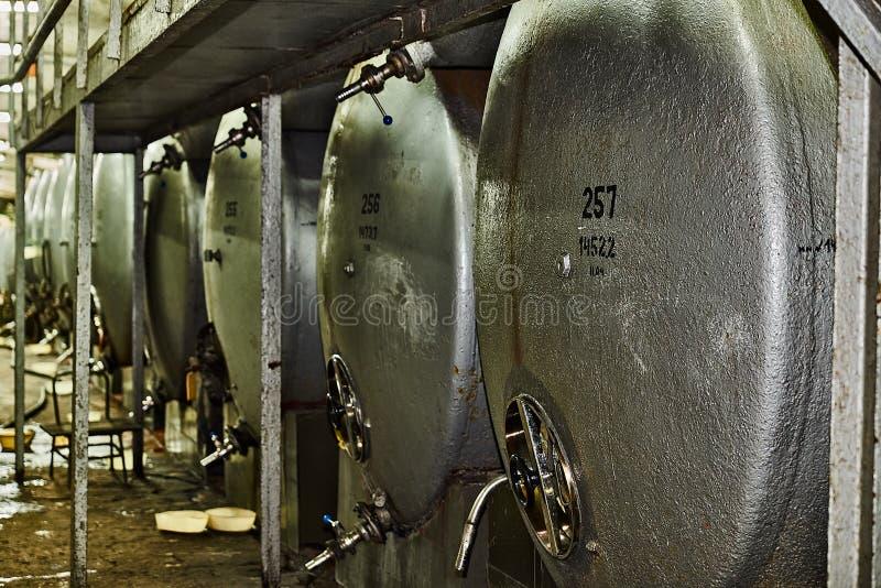 Rostfritt stålvinvats royaltyfri fotografi