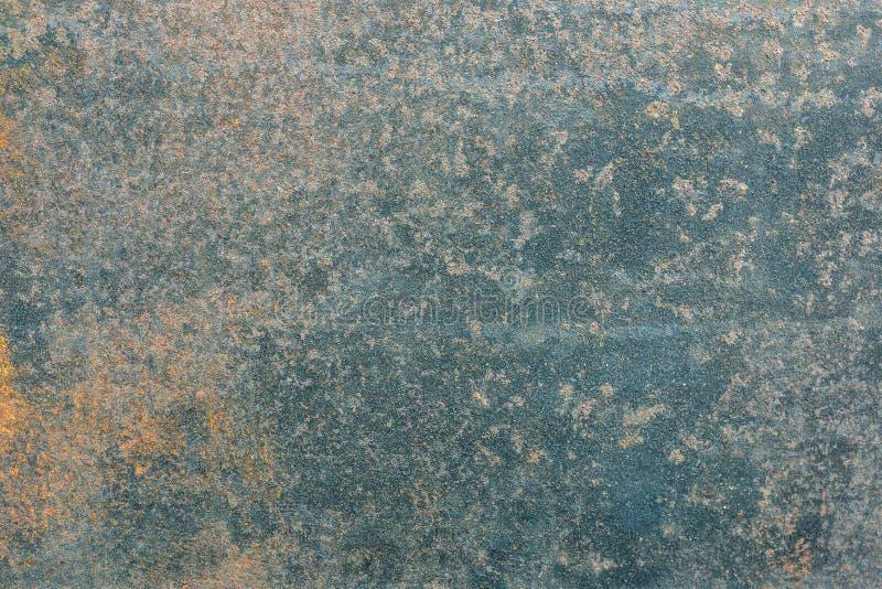 Rostgeruste Metallstruktur, Rost und oxidierter metallischer Hintergrund Alte Eisenplatte stockbild