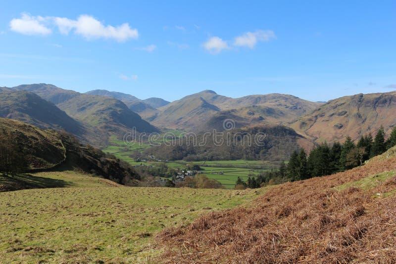 Rosthwaite and Borrowdale, Lake District, Cumbria stock images