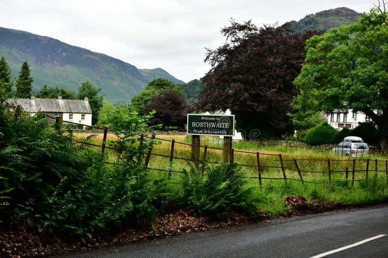 Rosthwaite Cumbria alrededor fotos de archivo