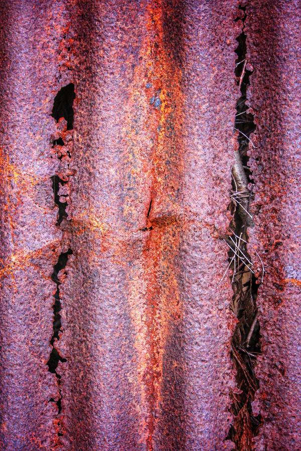 Rostig förfalla metall arkivfoton