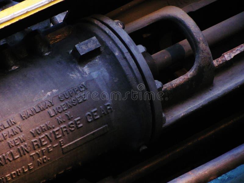Rostig gammal drevmotordetalj fotografering för bildbyråer