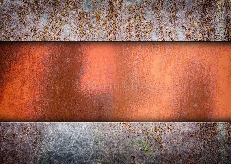 Rostig järnplatta för gammal metall för bakgrunder royaltyfri illustrationer