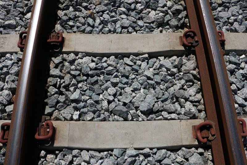 Rostig järnväg arkivbild