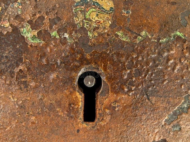 rostig keyhole royaltyfri bild