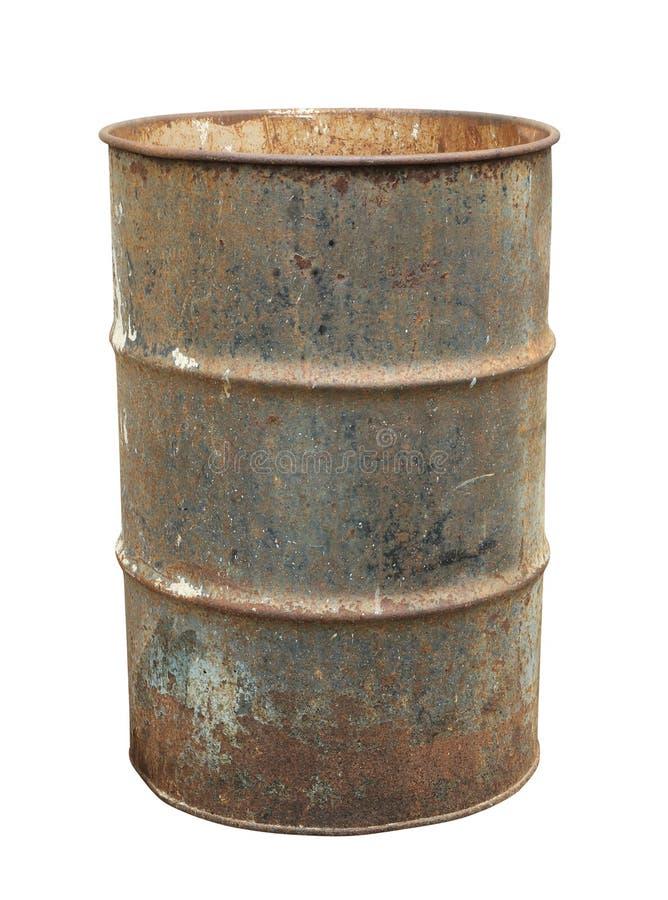 Rostig olje- trumma fotografering för bildbyråer