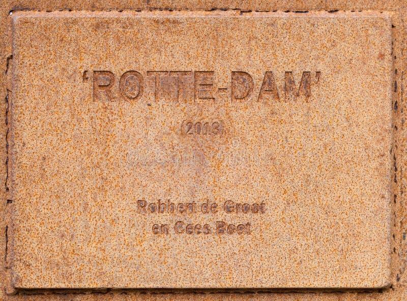 Rostig platta Rotterdam arkivfoton