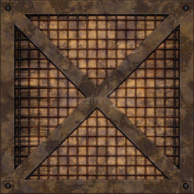 Rostig rasterplatta (sömlös textur) royaltyfri fotografi
