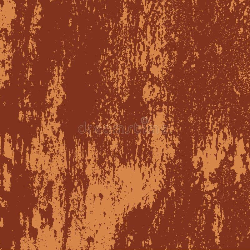 rostig textur för grungemetall stock illustrationer
