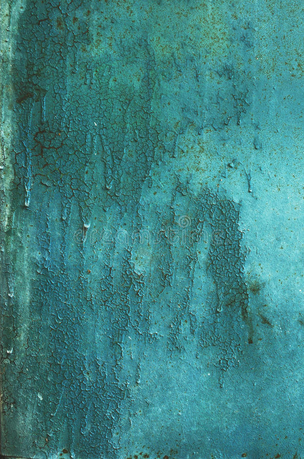 Rostig turkosbakgrund för metall royaltyfria foton
