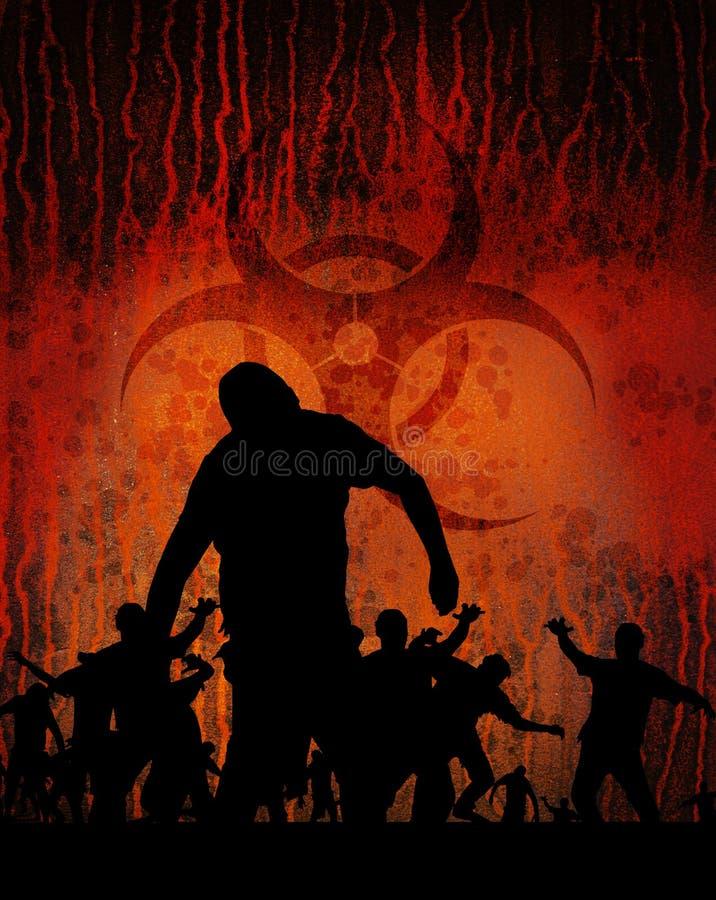 Rostig vert för Biohazard vektor illustrationer