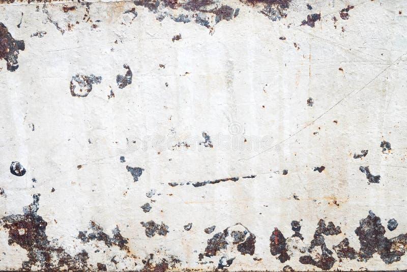 Rostig vit grungetegelplattatextur royaltyfria bilder