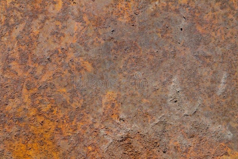 Rostige Eisenplatte als Hintergrundhintergrundbeschaffenheit stockfoto