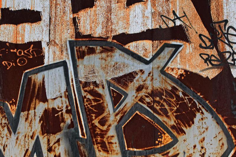 Rostige Graffiti stockfotografie