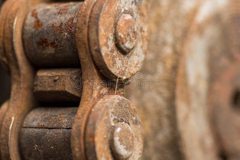 Rostige Kette der Weinlese lizenzfreies stockfoto