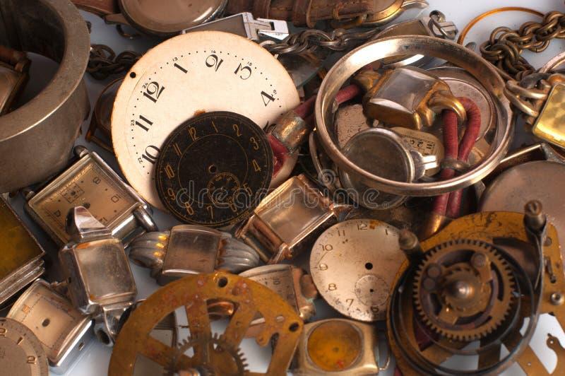 Rostige Uhr-Teile lizenzfreie stockbilder