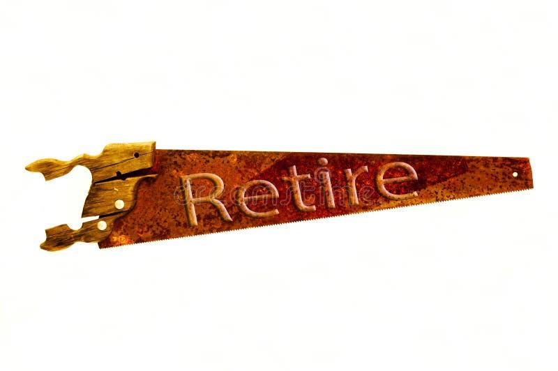 Rostiger alter Handsaw stock abbildung