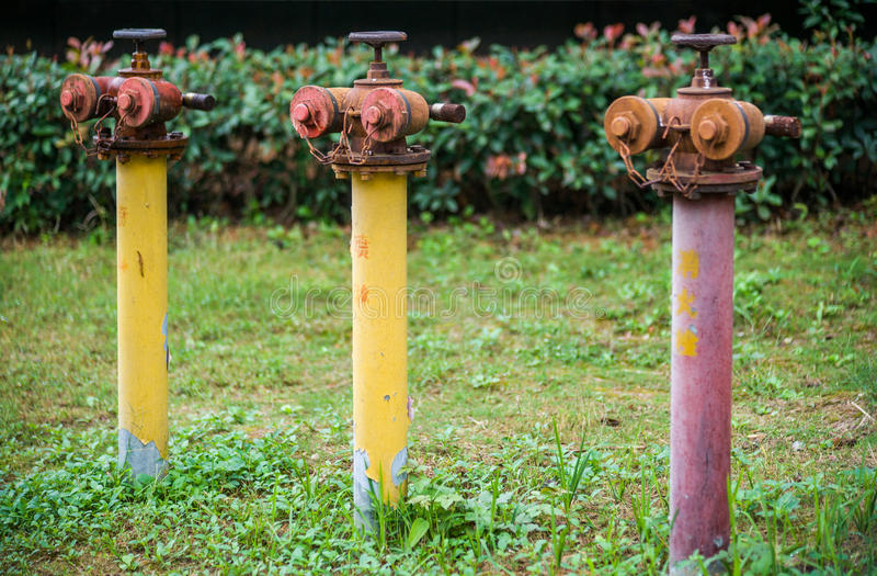Rostiger Feuer-Hydrant stockfotografie
