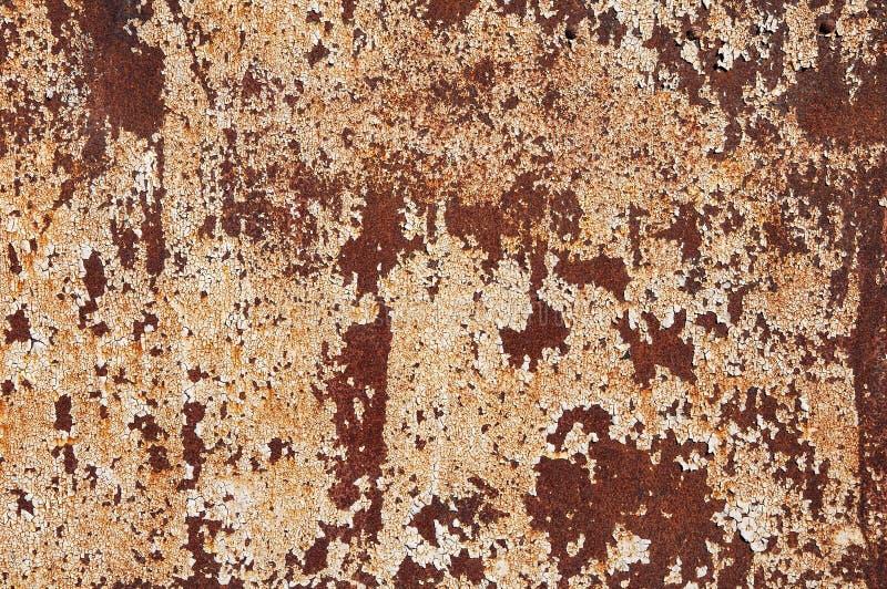 Rostiger Fleck auf der Metallplatte Hintergrundbeschaffenheit des Eisens lizenzfreies stockbild
