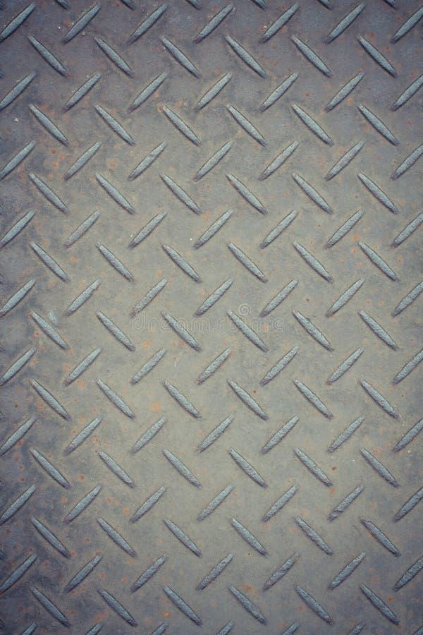 Rostiger Metallhintergrund mit nicht sich wiederholendem Muster des Beleges lizenzfreie stockfotografie