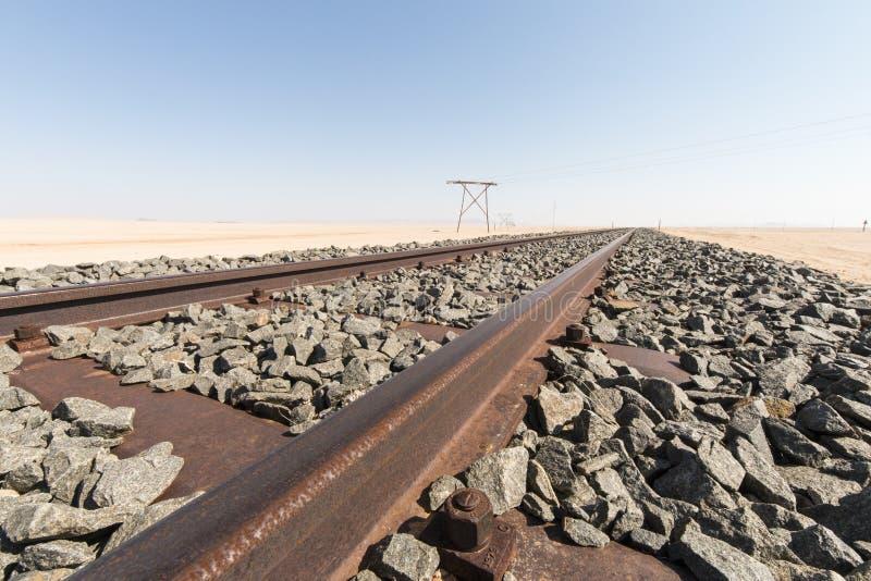 Rostiger Schienenstrang lizenzfreie stockfotografie