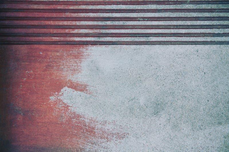 Rostiger Schmutz verwitterter Metallhintergrund oder -tapete stockfoto