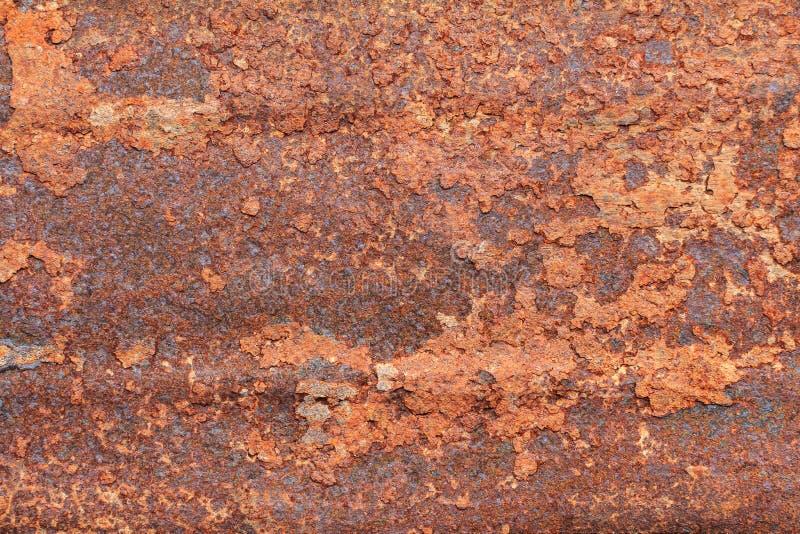 Rostiger schmutziger Eisenmetallplattehintergrund Altes rostiges Metall Roter ru stockfoto