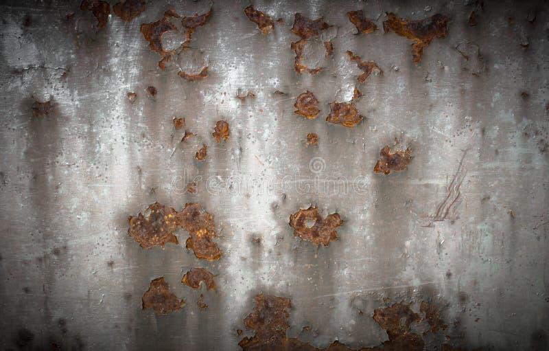 Rostiges Metall der Platte stockfoto