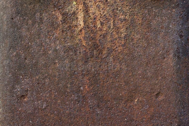 Rostiges und gemaltes strukturiertes Metall stockfoto