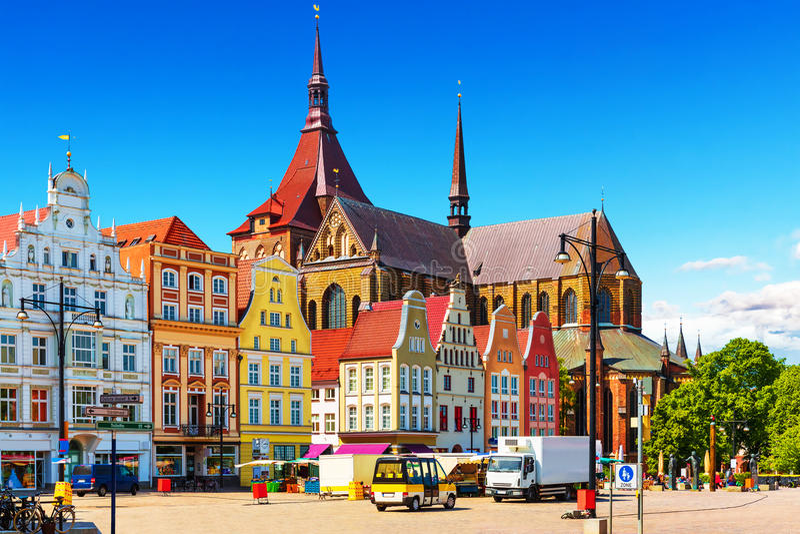 Rostock, Deutschland stockfotos