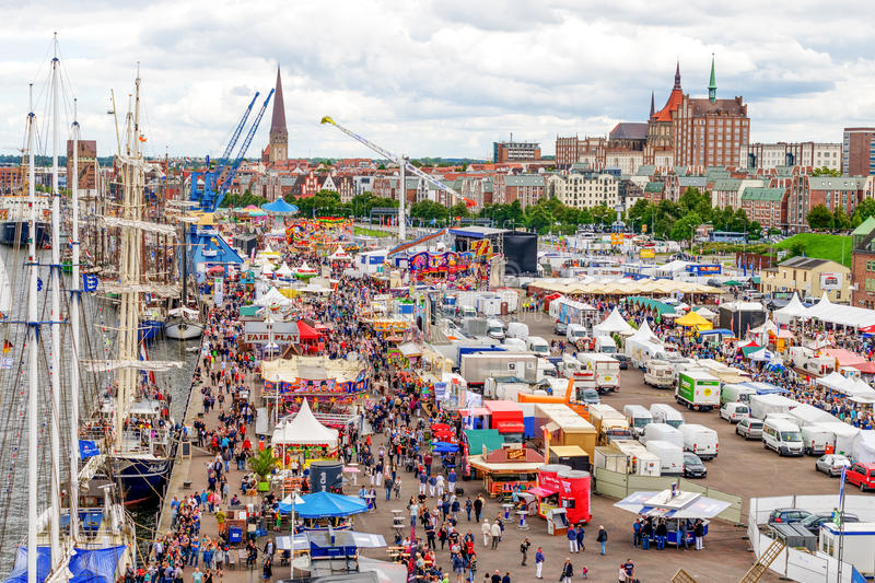 Download Rostock, Germany - August 2016: Hanse Sail Markt Editorial Photo - Image of fair, clouds: 88407986