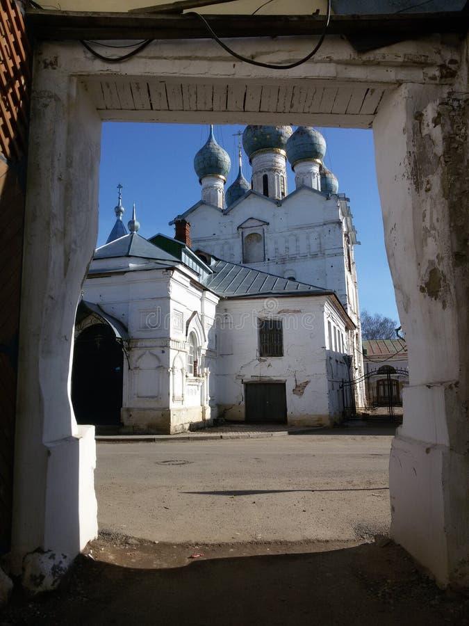 Rostov den stora Kreml i vintern, guld- cirkel, Yaroslavl region, Ryssland arkivbild