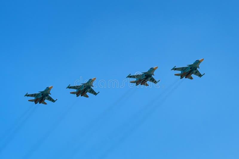 ROSTOV ON DON, РОССИЯ - АВГУСТ 2017: Su-34 стоковые фотографии rf