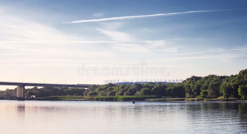 Rostov On Don, Россия - 4-ое июня 2017: Взгляд к левому берегу t стоковое фото