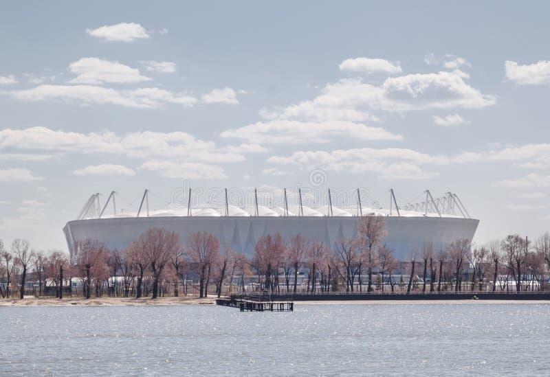 Rostov-On-Don, Rússia - 26 de abril de 2018: Estádio de futebol Rostov imagem de stock