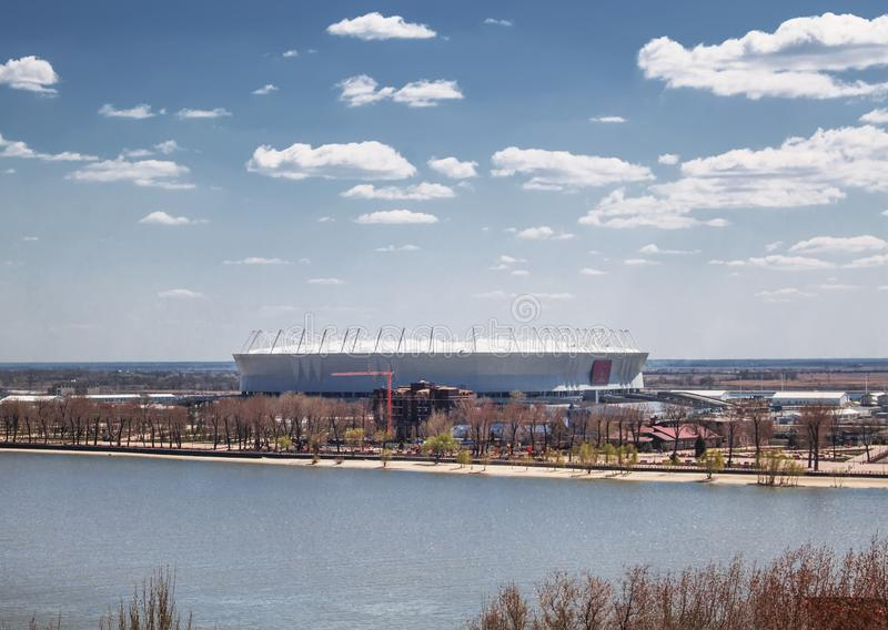 Rostov-On-Don, Rússia - 26 de abril de 2018: Estádio de futebol Rostov fotos de stock royalty free