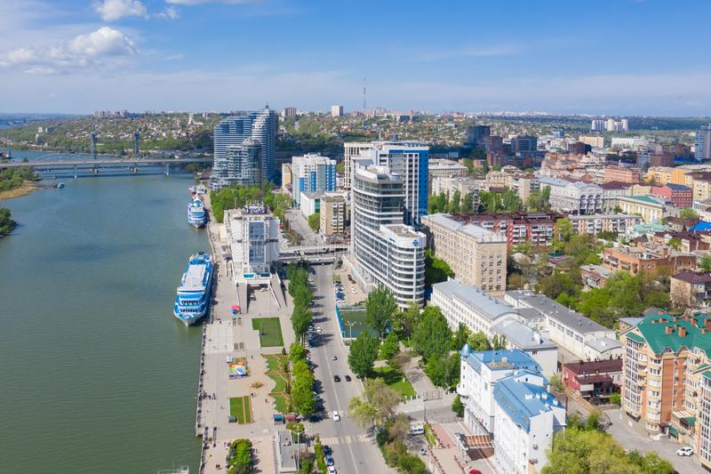 ROSTOV-ON-DON, RUSSIA - MAY 2019: Riverport on the waterfront. Rostov-on-Don. Russia.  stock image