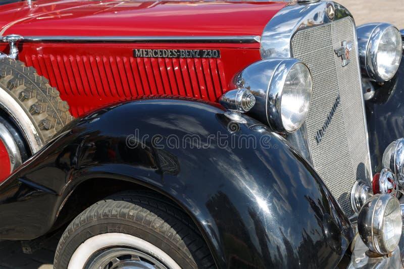 Luxury retro car Mercedes 230 at the Retro Car Show royalty free stock photos