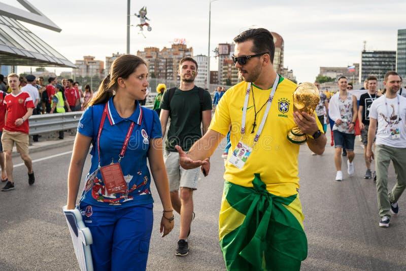 ROSTOV-ON-DON, RUSSIE - 17 juin 2018 jour de match à ville hôte 2018 de la Russie de coupe du monde de la FIFA Rostov-On-Don Les  photo stock