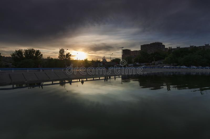 Rostov-On-Don, stagno del Nord di stoccaggio fotografie stock libere da diritti