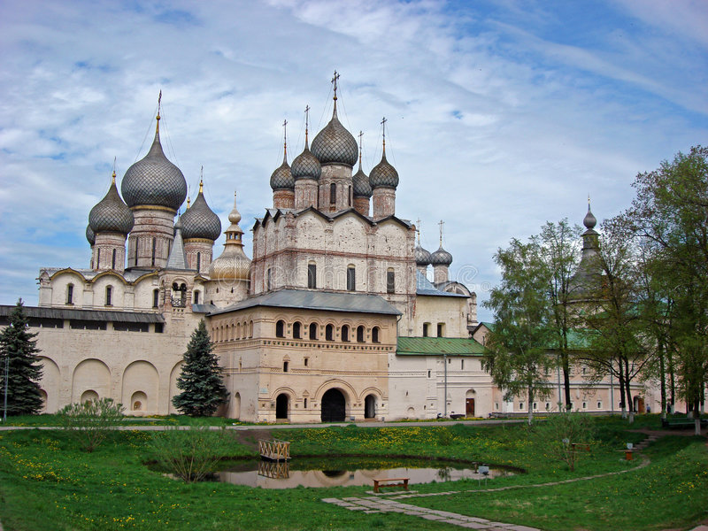 Rostov Groot. Het Kremlin stock foto's