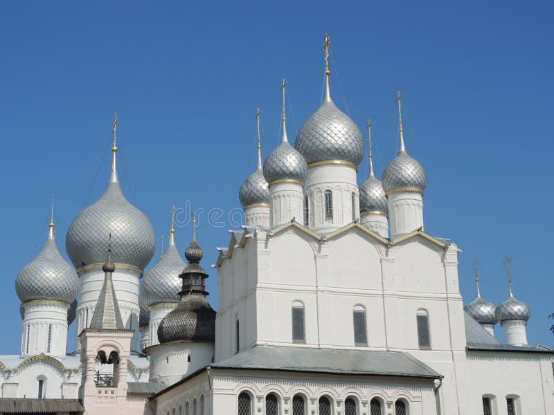 rostov kremlin воскресение церков стоковые фото