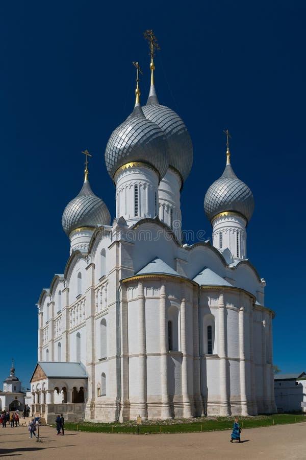 Rostov Kremlin Abóbadas da catedral da suposição imagem de stock royalty free